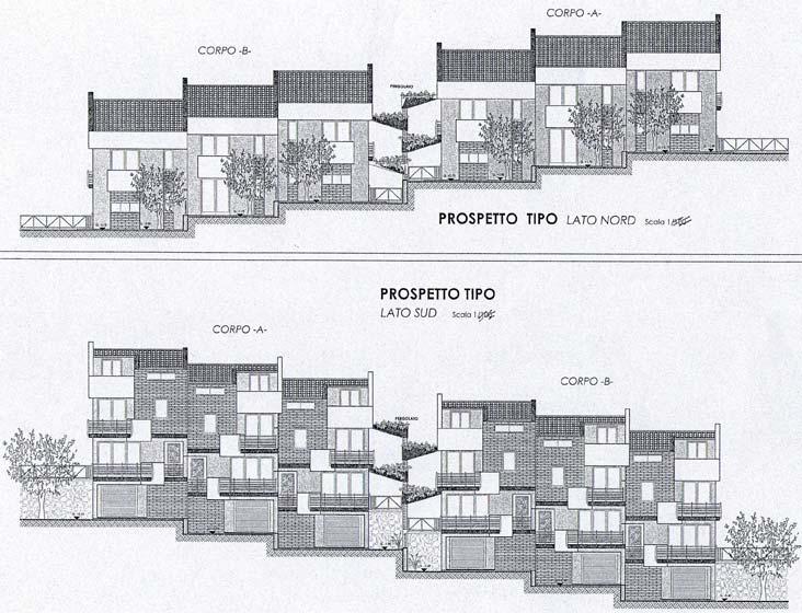 Progetto per la realizzazione di n 18 villette a schiera for Progetti di villette